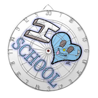 I Love School Design for Learners and Educators Dart Board