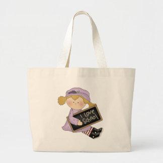 I Love School, Girl Tote Bag