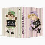 I Love School Girls Notebook Vinyl Binder