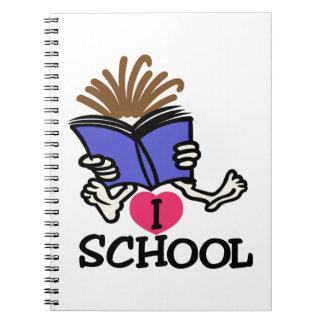 I Love School Notebook