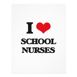 I love School Nurses Personalized Flyer