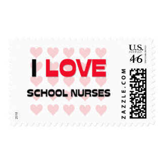 I LOVE SCHOOL NURSES STAMP