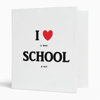 """I Love School"" Personalized Binder"