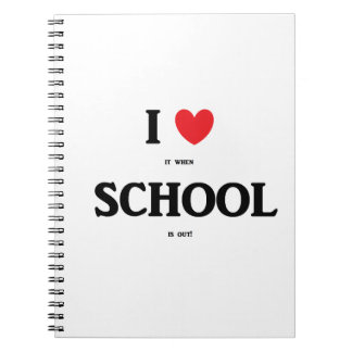 """""""I Love School"""" Personalized Notebook"""