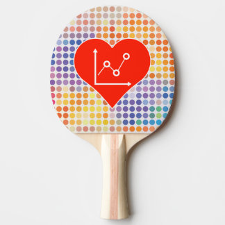 I Love School Ping Pong Paddle