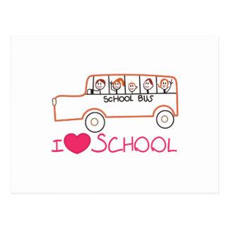 I Love School Postcard