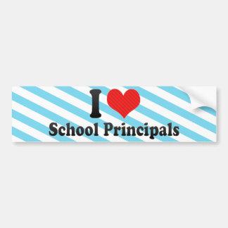 I Love School Principals Bumper Sticker