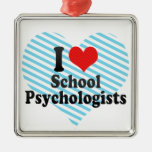 I Love School Psychologists Christmas Tree Ornaments