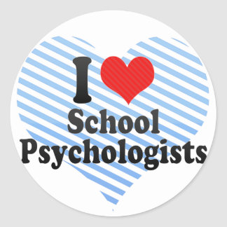 I Love School Psychologists Round Sticker