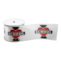 I Love School Satin Ribbon