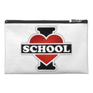I Love School Travel Accessory Bags