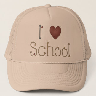 I Love School Trucker Hat