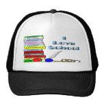 I Love School Trucker Hats