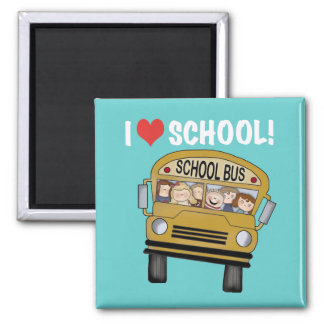 I Love School Tshirts and Gifts Refrigerator Magnets