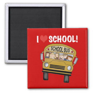 I Love School Tshirts and Gifts Magnets