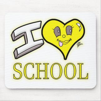 i love school yellow school bus edition mouse pad