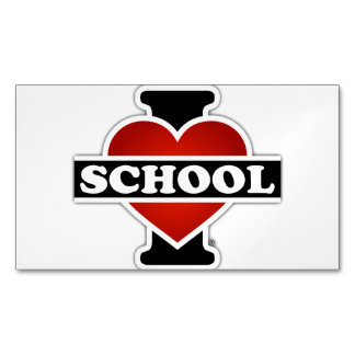 I Love School Magnetic Business Cards (Pack Of 25)
