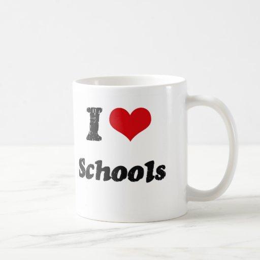 I Love SCHOOLS Classic White Coffee Mug