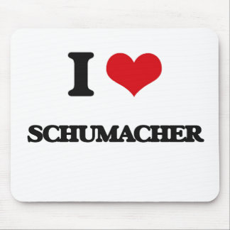 I Love Schumacher Mouse Pad