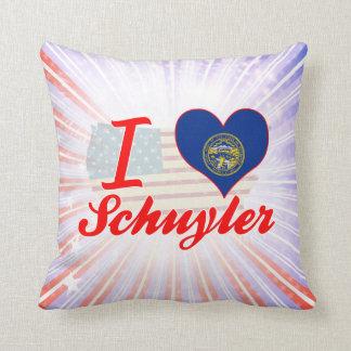 I Love Schuyler, Nebraska Pillows