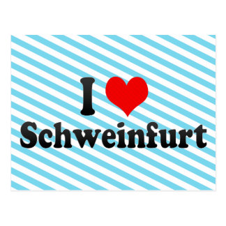 I Love Schweinfurt, Germany Postcard