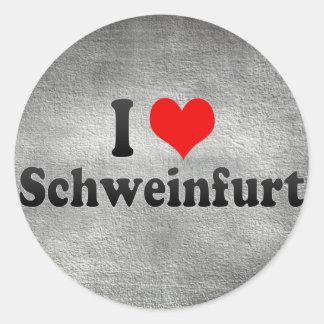 I Love Schweinfurt, Germany Stickers