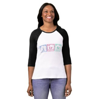 I Love Science 3/4th Sleeve Women's Shirt