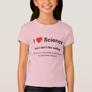 I love Science and I don't like waiting T-Shirt