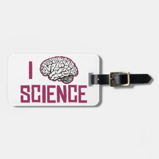 I Love Science (brain) Bag Tag