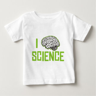 I Love Science (brain, green) Baby T-Shirt