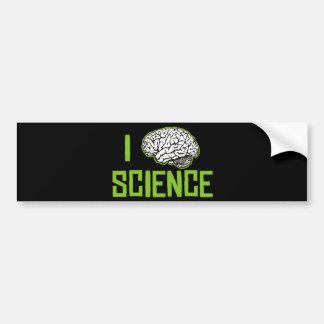 I Love Science (brain, green) Bumper Sticker