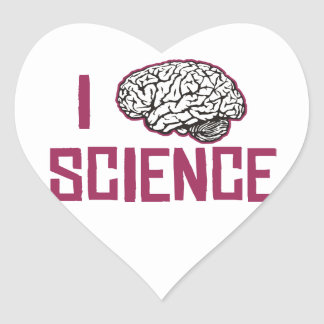 I Love Science (brain) Heart Sticker