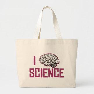 I Love Science (brain) Large Tote Bag