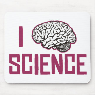I Love Science (brain) Mouse Pad
