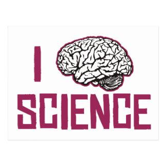 I Love Science (brain) Postcard