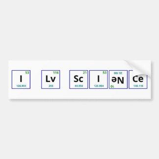 I Love Science Bumper Stickers