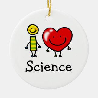 i love science ceramic ornament