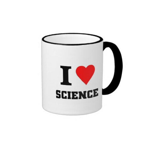 I love science coffee mugs