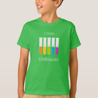 """I Love Science"" Colorful Test Tubes T-Shirt"