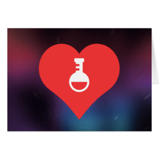 I Love Science Experiments Cool Icon Greeting Card