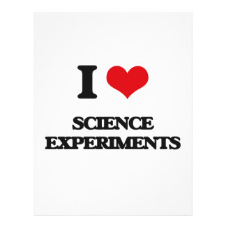 I Love Science Experiments Flyer