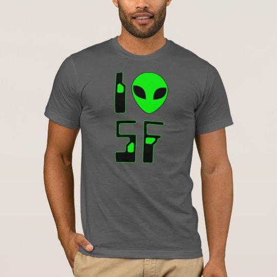 I Love Science Fiction (futuristic 1) T-Shirt