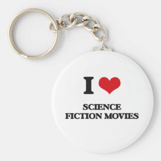 I Love Science Fiction Movies Keychain