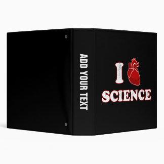 i love science / i heart science / anatomy 3 ring binder