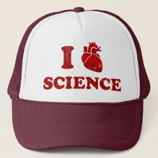 i love science / i heart science / anatomy trucker hat