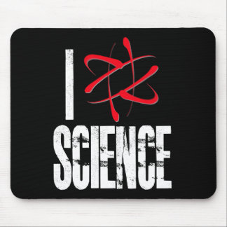 I Love Science (I ⚛ Science) Mouse Pad