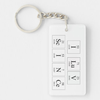 I Love Science Key Ring