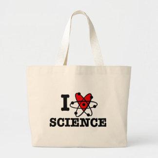 I Love Science Large Tote Bag