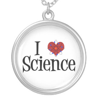 I Love Science Round Pendant Necklace