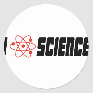 I love science pegatina redonda